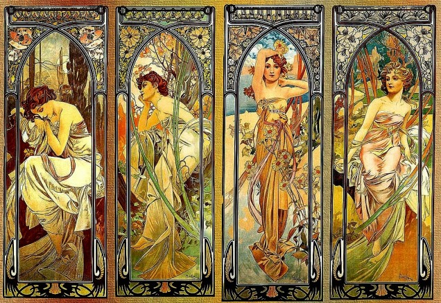 Times-of-the-Day-1900-Alphonse-Mucha