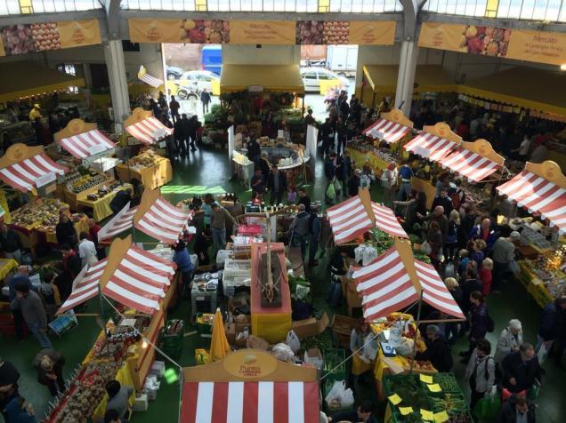 mercato vista dall'alto