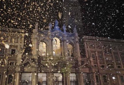 Roma nevicata Santa Maria Maggiore