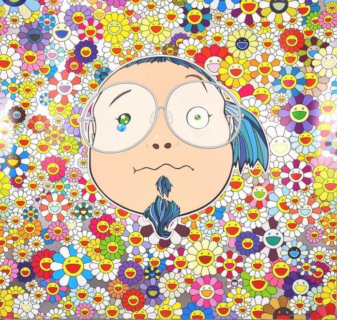 Takashi-Murakami-Murakami-Kun-2009-tecnica-mista-su-carta-68x68-cm-1200x1137-iloveimg-resized-1-696x660