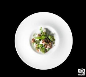 Gnocchi al basilico, burro affumicato, spuma di yuzu e bottarga di tonno - Stefano Marzetti