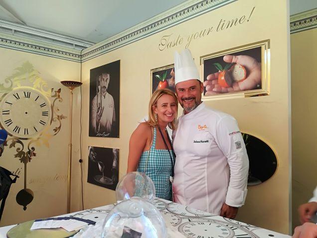 Belinda Bertolan e lo Chef Stefano Marzetti